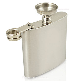 6oz Hip Flask in Gift Box with Funnel and Cups with a printed Thank You lid