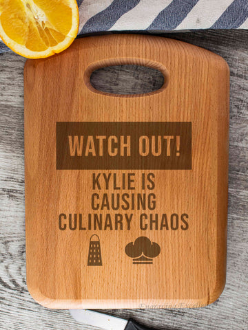 Beech Wood Chopping Board - Culinary Chaos Design