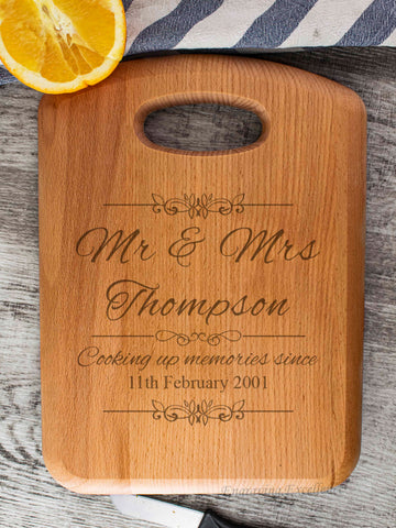 Beech Wood Chopping Board - Mr & Mrs Design