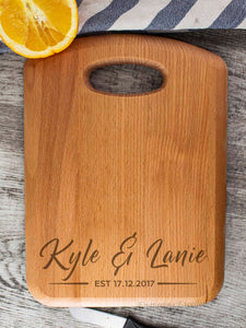 Beech Wood Chopping Board - Name & Name Design