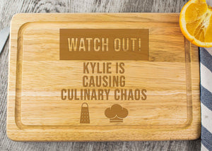 Wooden Chopping Board - Culinary Chaos Design