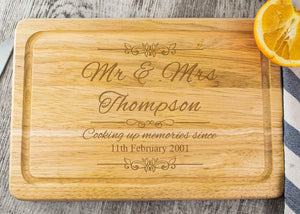 Wooden Chopping Board - Mr & Mrs Design