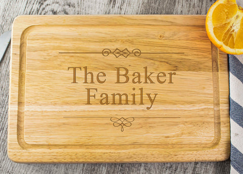 Wooden Chopping Board - Elegant Flourishes Design