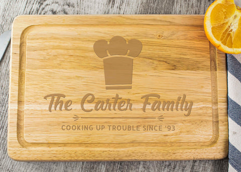 Wooden Chopping Board - Chef Hat Design