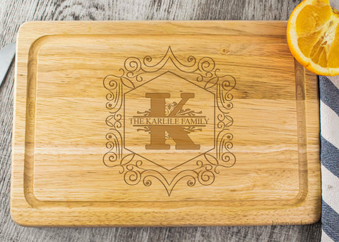 Wooden Chopping Board - Monogram Design