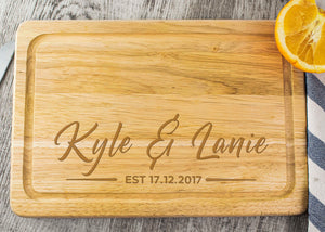 Wooden Chopping Board - Name & Name Design