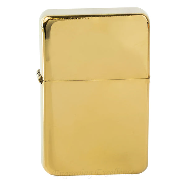 Premium Brass Flip Lighter - Gold