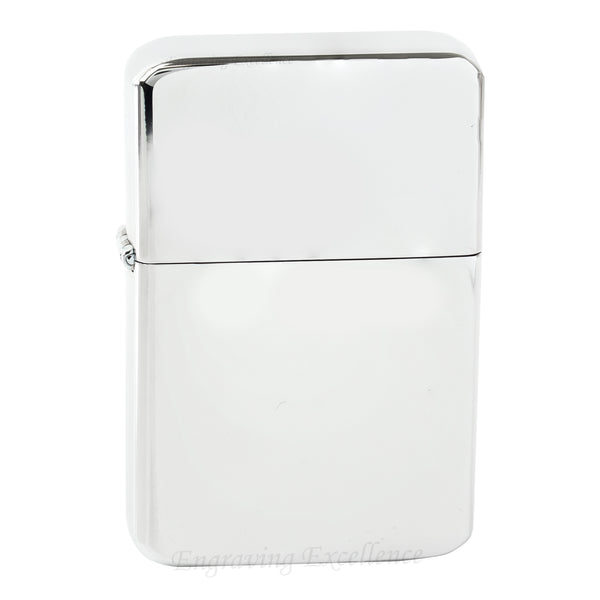 Premium Brass Flip Lighter - Silver
