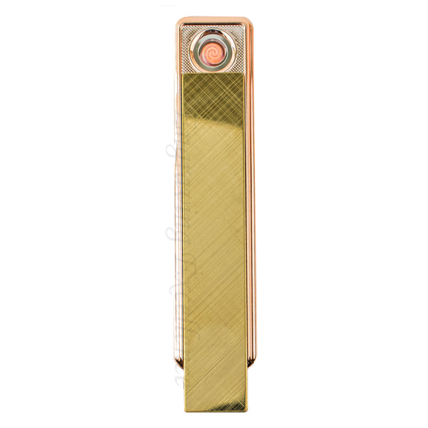 Slim Slide Action USB Lighter - Gold