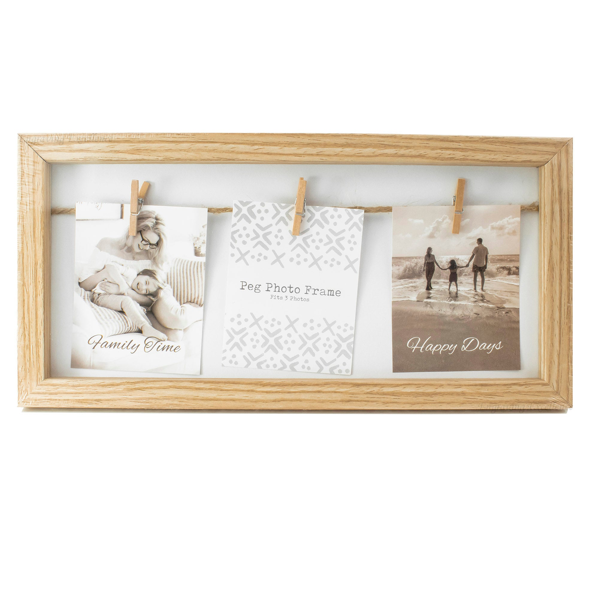 Personalised Wooden Peg Photo Frame