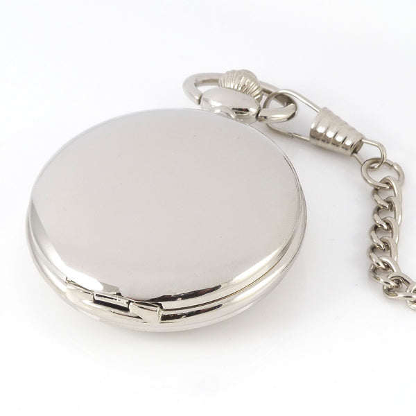 Silver Pocket Watch in a Wedding Printed Gift Box