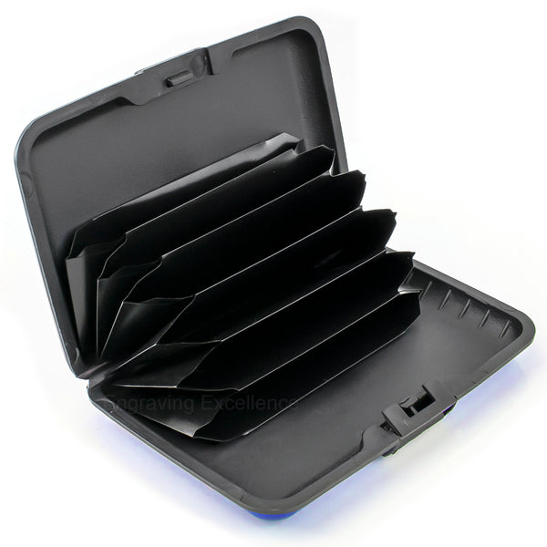Aluminium Card Holder - Blue