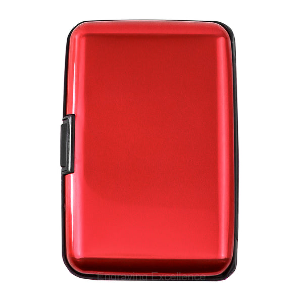 Aluminium Card Holder - Red