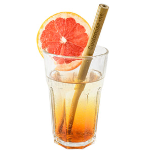 Personalised Bamboo Reusable Drinking Straw