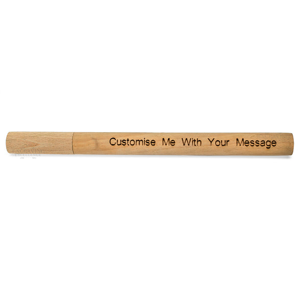Personalised Straw Wood Holder