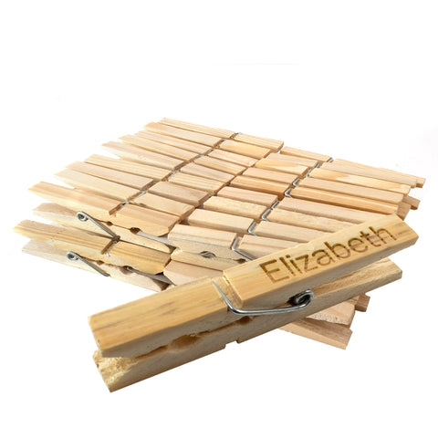 Set of 36 Wooden Pegs