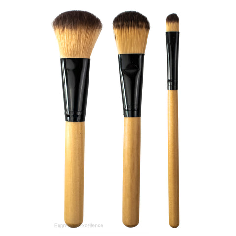 Personalised Makeup Brushes - Set of 3