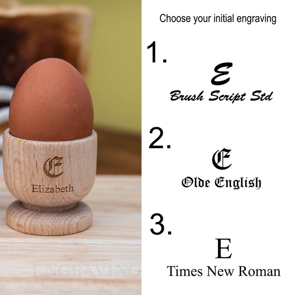 Personalised Wood Egg Cups