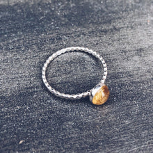 Load image into Gallery viewer, Gemstone Beaded Stacking Ring