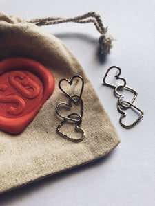 #SEW2SAVE Heart of Gold Earrings