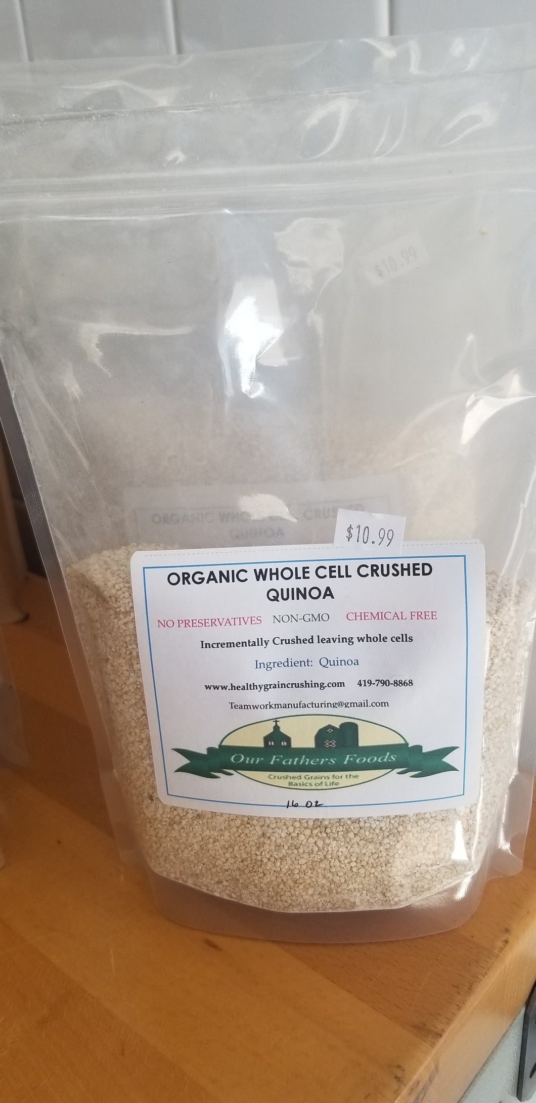 Our Father's Foods Whole Cell Crushed Quinoa (1lb)