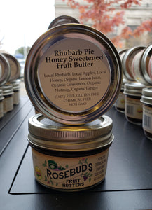 Rhubarb Pie Honey-Sweetened Fruit Butter