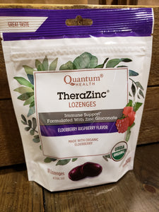 TheraZinc Lozenges Elderberry Raspberry Flavor