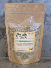 Load image into Gallery viewer, JANE'S ITALIAN - An amazing blend of garlic and herbs.  Great for Steaks, Burgers, Chicken, Raw or Grilled Veggies, Pizza and Pasta too! Our favorite for a Bread Dipping Oil.