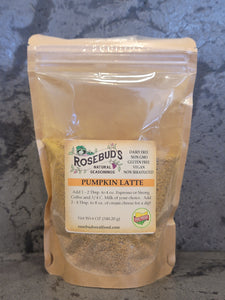 PUMPKIN LATTE - Add 1 - 2 Tbsp. to 4 oz. Espresso or Strong Coffee and 3/4 C. Milk of your choice.  Also great mixed in cream cheese for a dip!