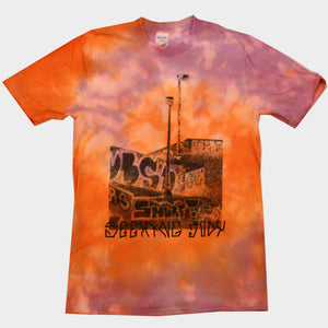 Tie dye purple/orange