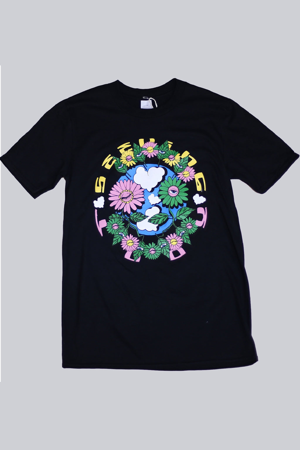 'Plant Friends' black T-shirt