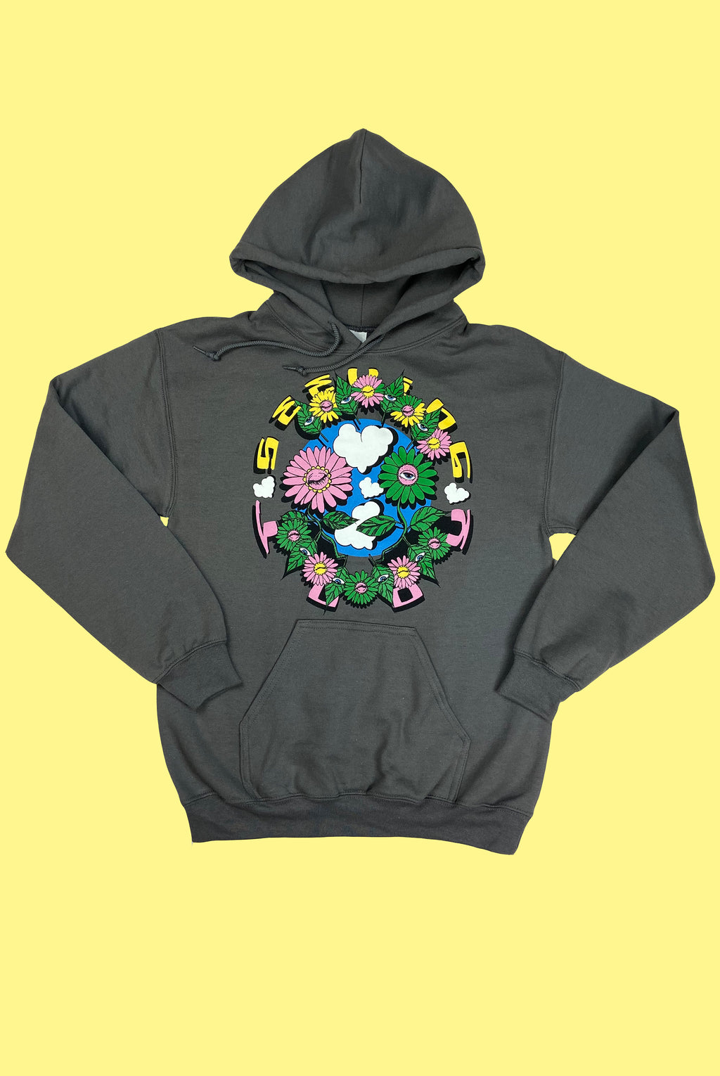 'Plant Friends' Charcoal Hoodie