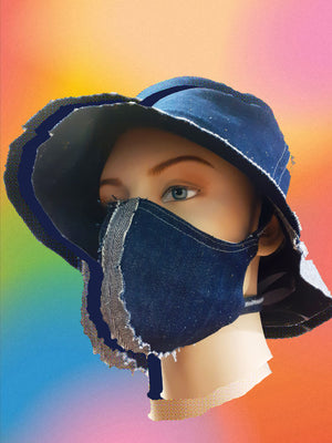 Cotton Denim face mask : Repurposed cotton