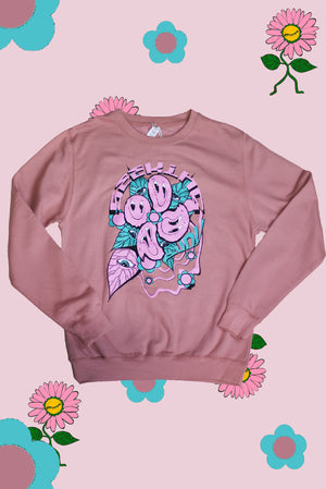 'Melty Smileys' Duty pink Sweatshirt