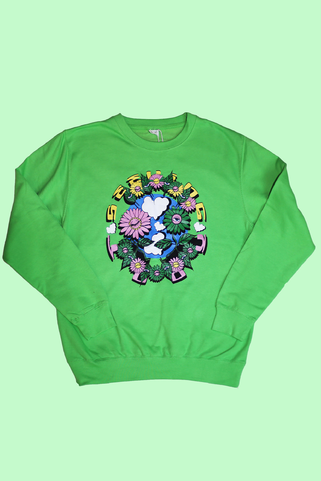 'Plant Friends' Green sweatshirt