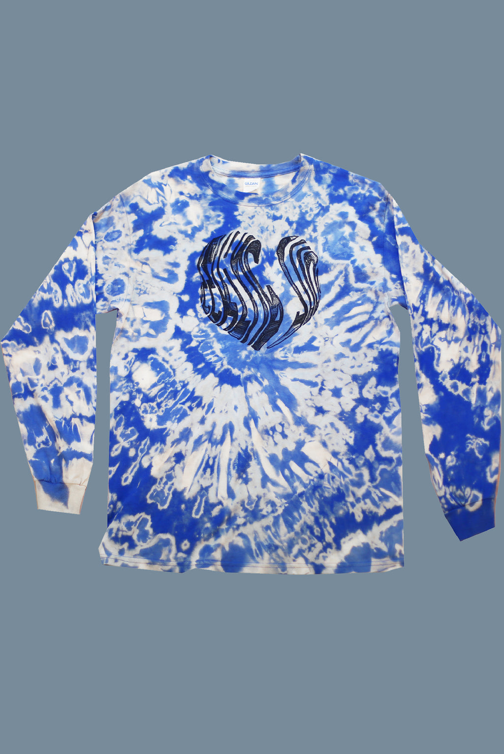 'Luv SJ' Blue Tie Dye long sleeve