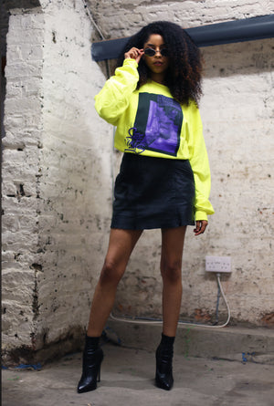 'Stressed' Neon sweatshirt