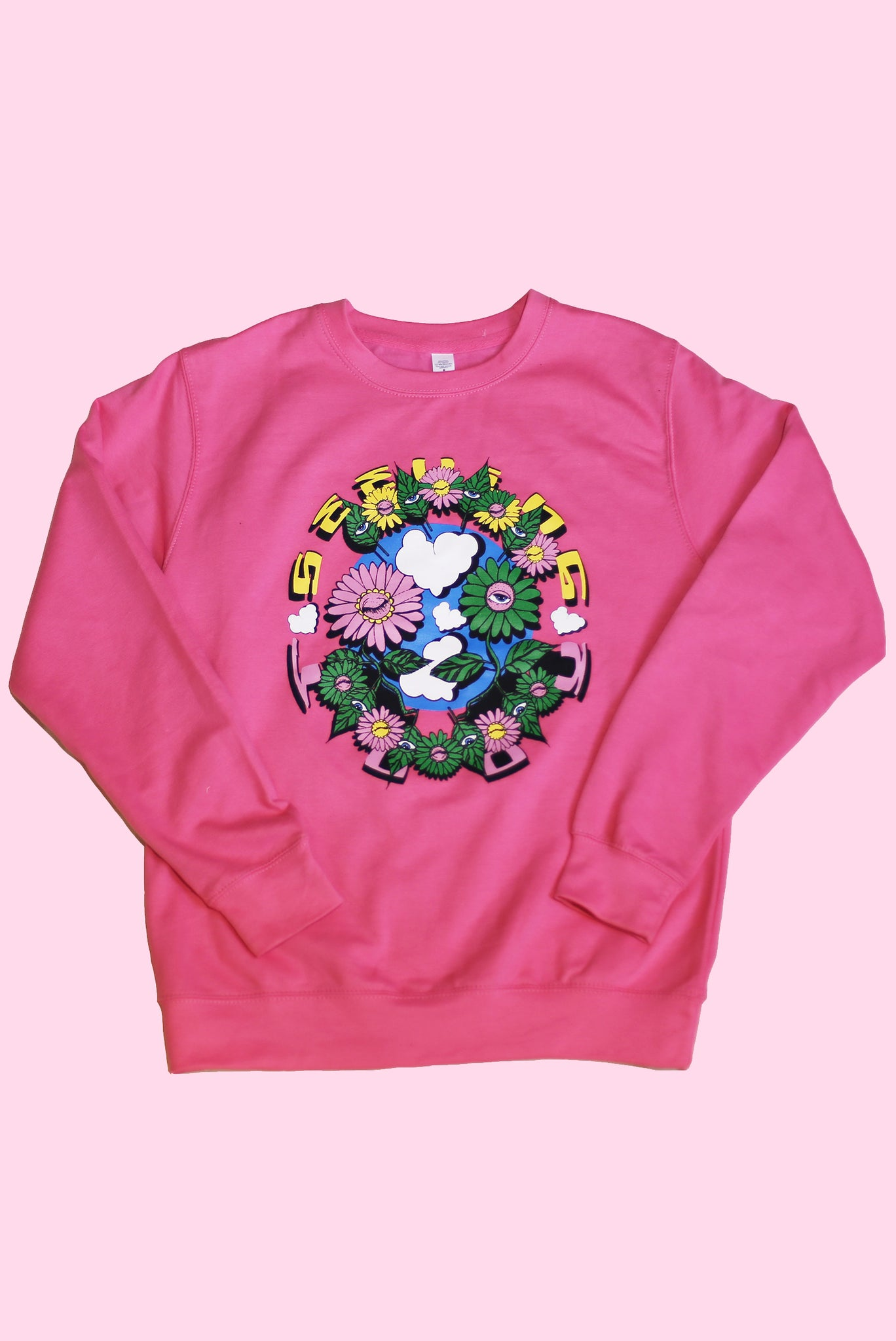 'Plant Friends' Pink sweatshirt