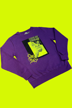 'Stressed Out' Purple Sweatshirt