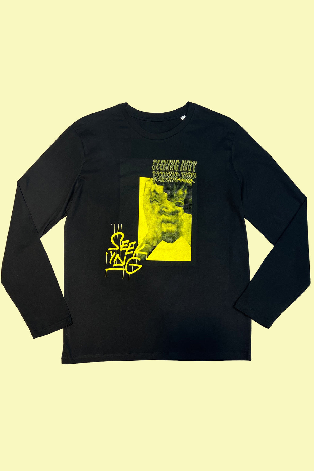 'Stressed Out' Organic black long sleeve T-shirt