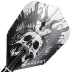 Target Pro 100 Vision Black Winged Skull Dart Flights