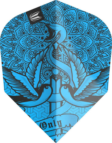 INK PRO.ULTRA BLUE NO6 DART FLIGHTS BY TARGET