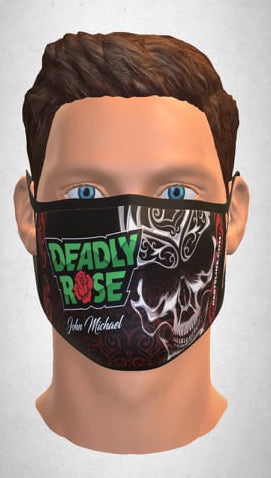 MASK BY JOHN MICHAEL (LOGO DEADLY ROSE)