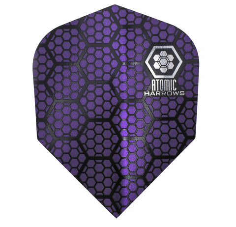 Harrows Atomic Purple 100 Micron Dart Flights