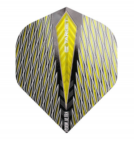 TARGET YELLOW QUARTZ VISION ULTRA NO 2 STANDARD DART FLIGHTS