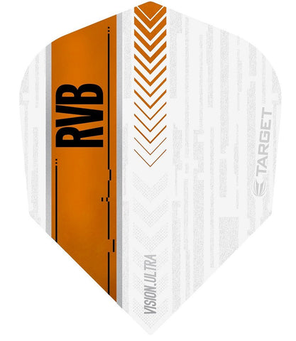 Raymond van Barneveld Ultra Vision No6 White and Orange Dart Flights