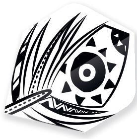 Unicorn Core 75 White Feather Dart Flights