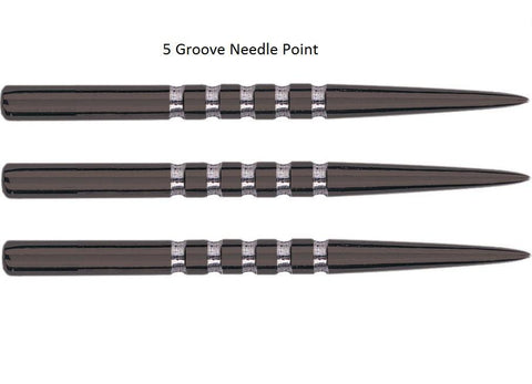 UNICORN 38MM 5 GROOVE BLACK REPLACEMENT DART POINT