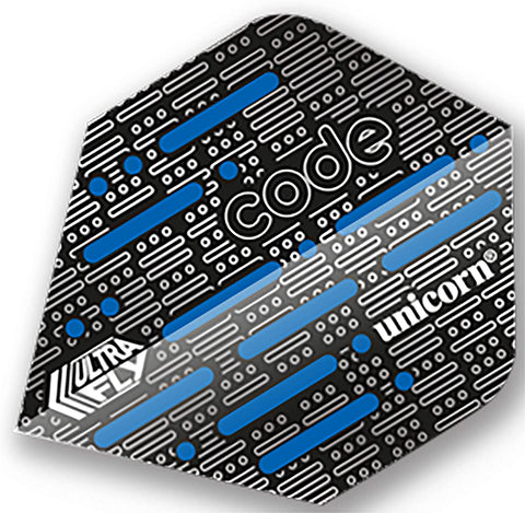 UNICORN ULTRAFLY DART FLIGHTS STANDARD CODE BLUE