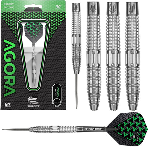 AGORA A02 90% TUNGSTEN STEEL TIP DARTS BY TARGET